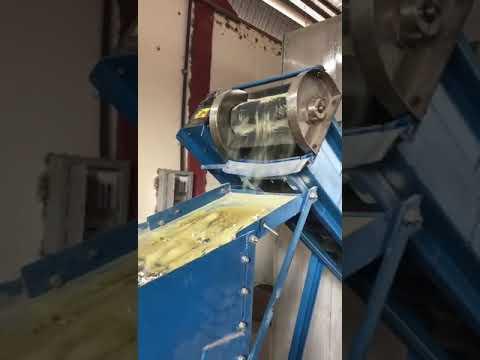 Moagem e peneiramento de vidro de aterros