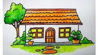 Menggambar Rumah Untuk Anak Sd Youtube