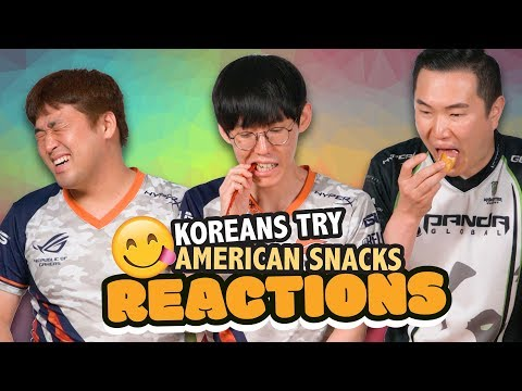 Koreans Try Snacks Available in America - Reactions of Fighting Game Pros – HyperX Moments