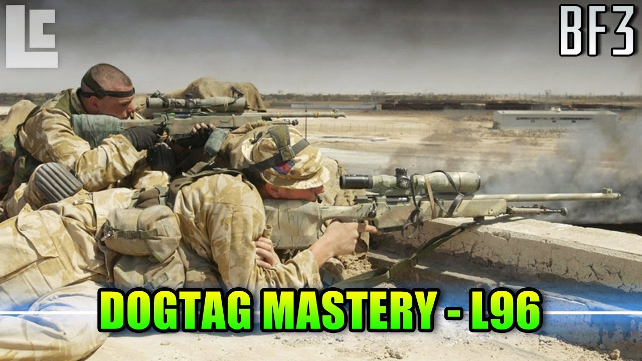 Download Dog Tag Mastery - L96 Bolt Action Sniper Rifle (Battlefield 3 Gameplay/Commentary)