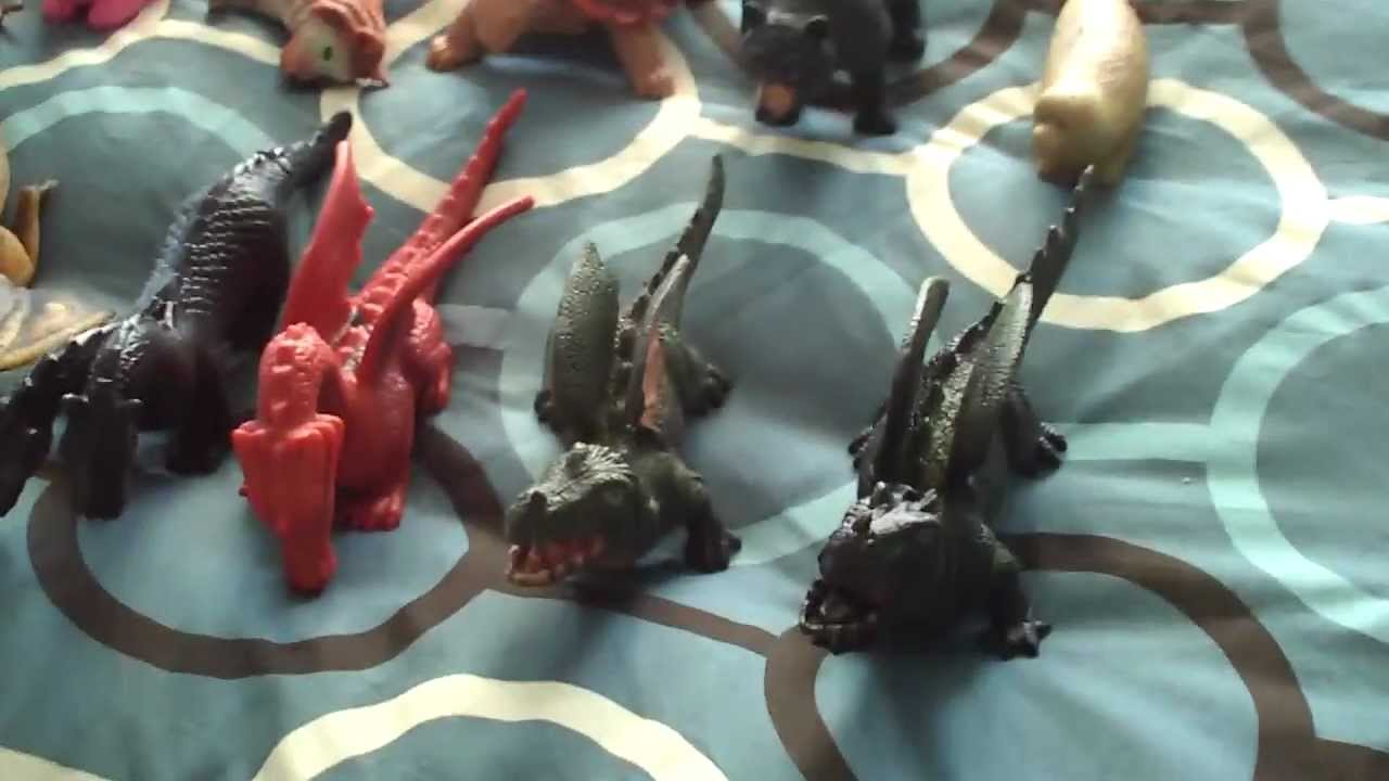 Squishy Dragon Toys : My Squishy Animal Collection - YouTube