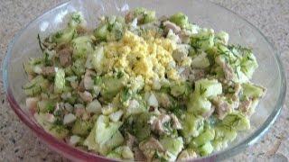Полезный салат из печени трески без консервантов и майонеза