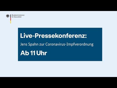 Pressekonferenz: Jens Spahn zur Coronavirus-Impfverordnung
