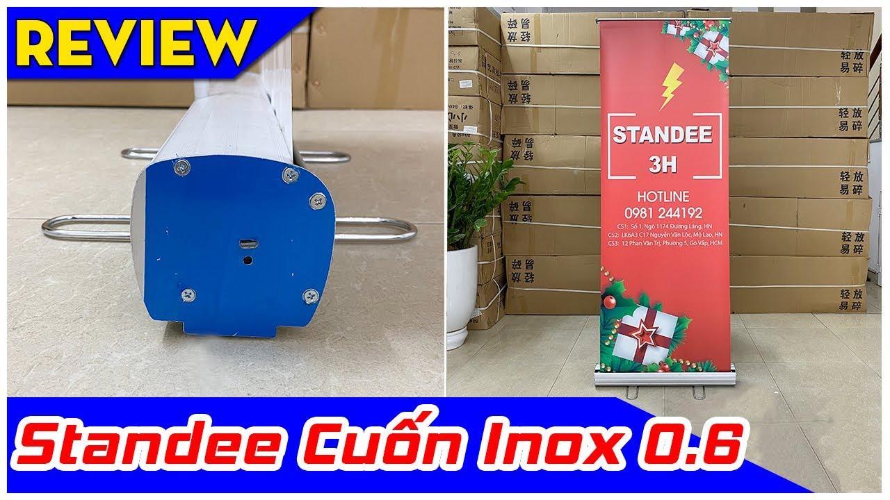 [Review] Standee Cuốn Inox 60x160cm | Standee Cuốn Chân Thép 0.6×1.6m