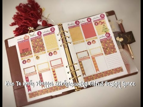 How To Make Planner Stickers using Cricut Design Space