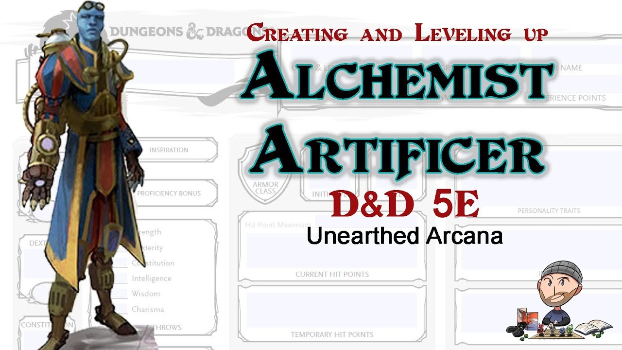 D&D 5E Artificer Alchemist Character Build - 2019 Unearthed Arcana Revised