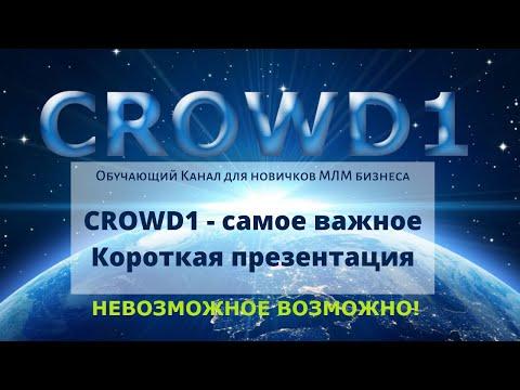 CROWD1 - самое важное.  Короткая презентация