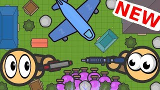 ZOMBSROYALE.IO Flying over the MAP! NEW IO GAME! FORTNITE.IO | LeeZY iXPLODE 2D