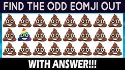 Find The Odd Emoji One Out | Spot The Odd Object One Out | Pop Emoji Games, Emoji Movie Quiz