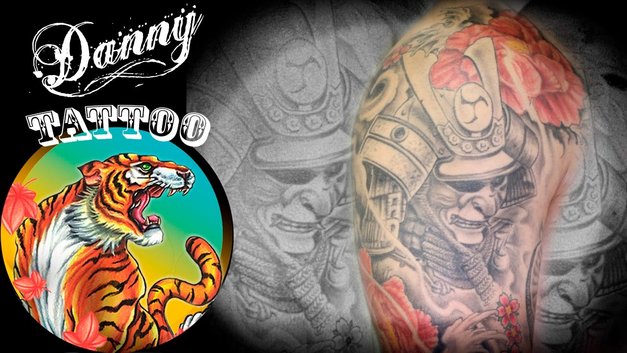 Máscara De Samurai Samurai Mask Danny Tattoo Timelapse Youtube
