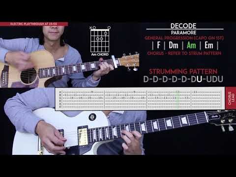 Decode Guitar Cover - Paramore 🎸  Tabs + Chords 