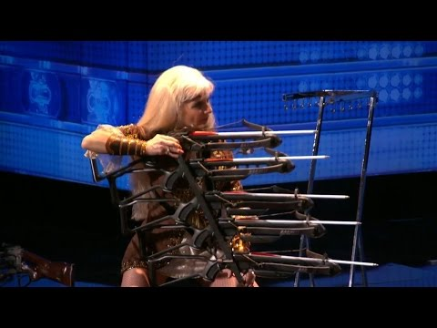 Americas Got Talent 2015 S10E06 Silvia Silvia Daring Feat of Crossbow Sharp-Shooting