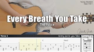 Every Breath You Take - The Police | Fingerstyle Guitar | TAB + Chords + Lyrics