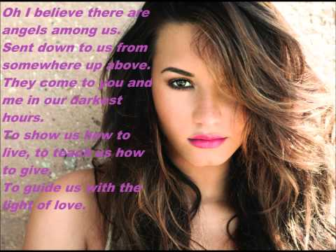 Demi Lovato - Angels Among Us (Lyrics On Screen!)