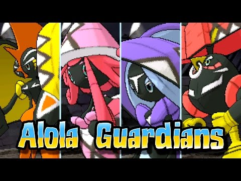 Pokémon Sun & Moon - Catching ALL of the Alola Guardians