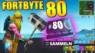 Fortnite Fortbyte 80 🔨 Bunker Smashed | All Fortbyte Places Season 9 Utopia Skin English