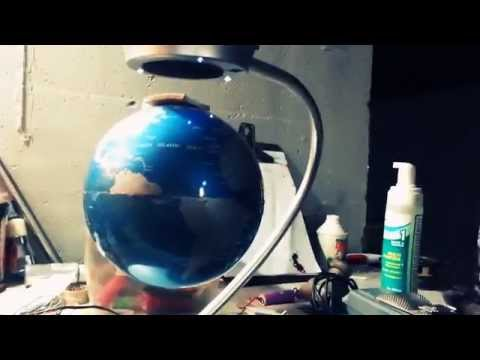 Suspended Globe By Magnets!