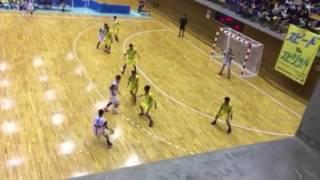 東北大会ハンドボールの試合