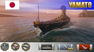 308 K урона и 7 фрагов на японском линкоре Yamato