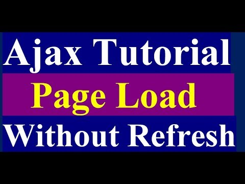 How to Load Page Without Refreshing Using Ajax - Ajax Tutorial