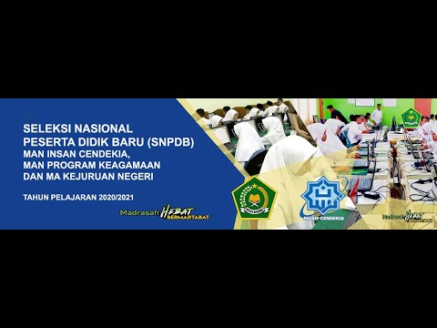 Tutorial Pendaftaran SNPDB MAN IC/MAN PK DAN MAKN TP 2019/2020
