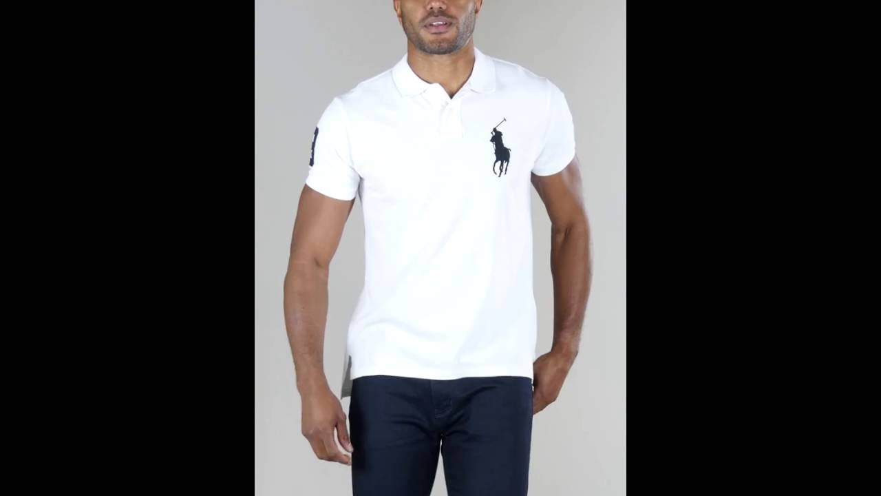 71515a618 Studio - Ralph Lauren Big Pony Custom Fit Polo Shirt - YouTube