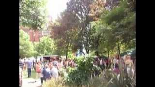 transvestite rock band at the sparkle festival the transgender and tv festival at manchester uk