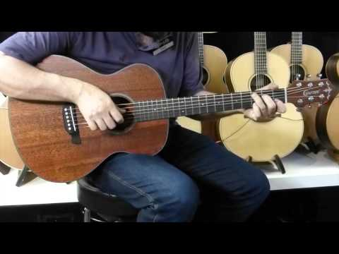 Crafter LITE Cast A MH/BR Acoustic Guitar demo