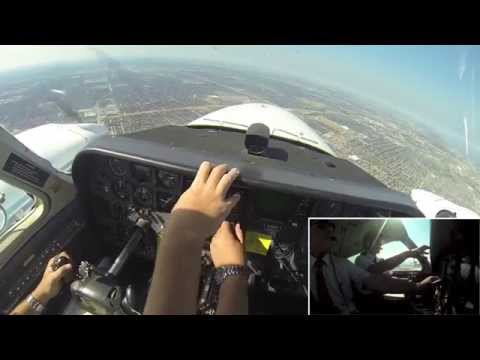 GoPro: Airline Pilot Training Flying Cessna 310R Dallas Engine Failure with comms