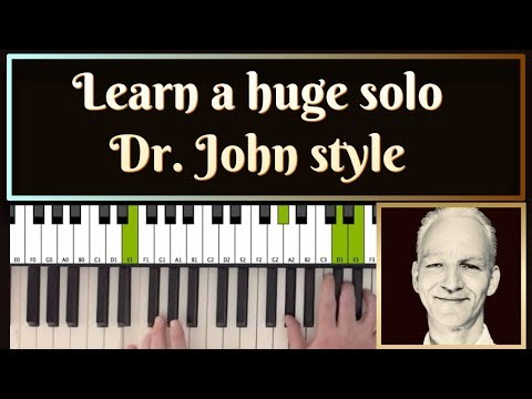 Dr. John style New Orleans  piano improvisation. 12 chorusses! Repeated in slow motion.