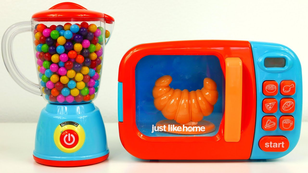 Microwave And Blender Just Like Home Kitchen Toy