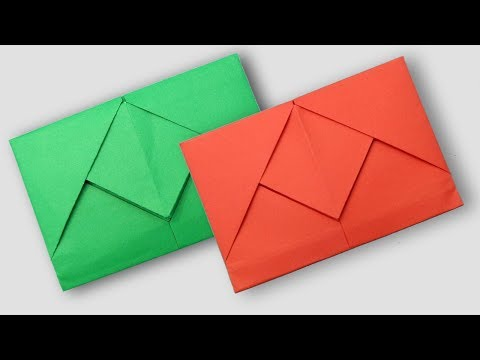 How to Make a Secret Envelope With Paper || DIY New Design Envelope Making Tutorial Without Glue