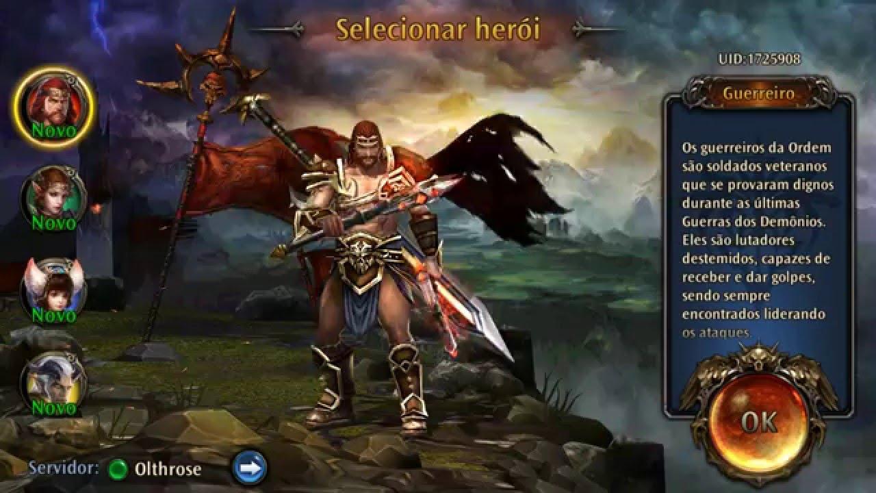 ETERNITY WARRIORS 4   Apresentando as classes e gameplay. - YouTube