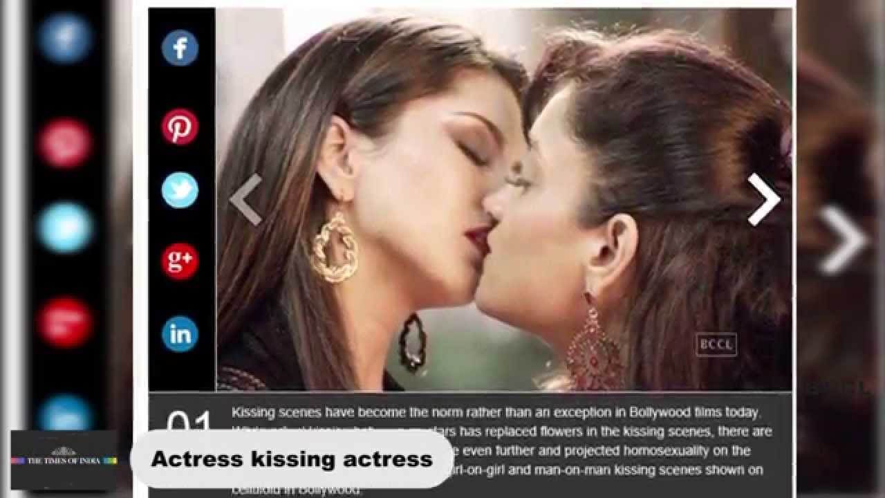 Such Actresses kissing each other agree
