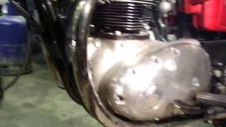 1971 bsa thunderbolt 650cc 1st startup since rebuild