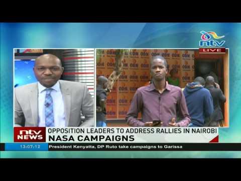 Nasa to address rallies in Nairobi