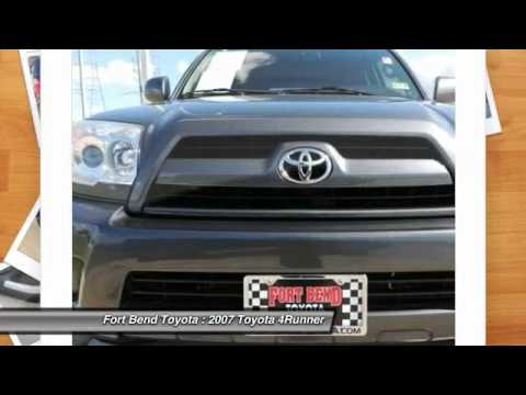 2007 toyota 4runner at fort bend toyota in richmond 78076877 youtube. Black Bedroom Furniture Sets. Home Design Ideas