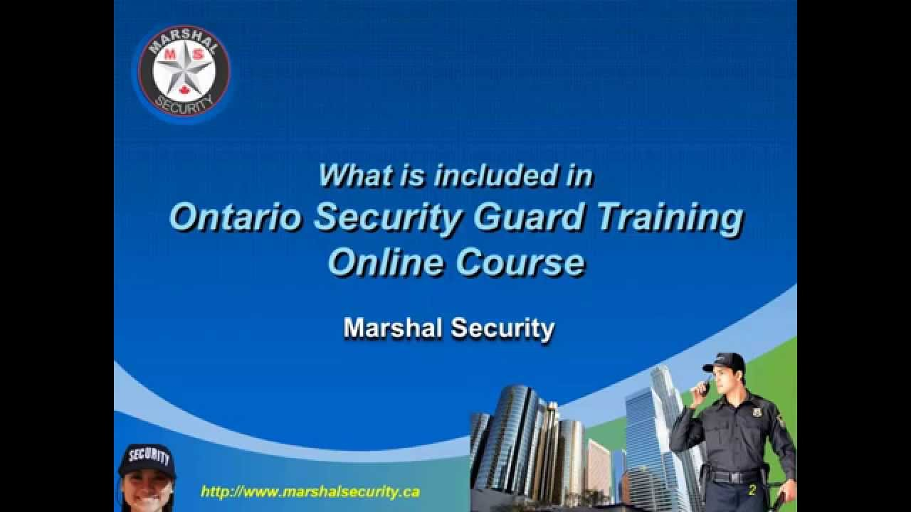 What Is Included In Ontario Security Guard Training Online