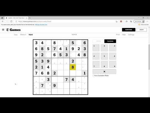 Hard Sudoku New York Times April 17