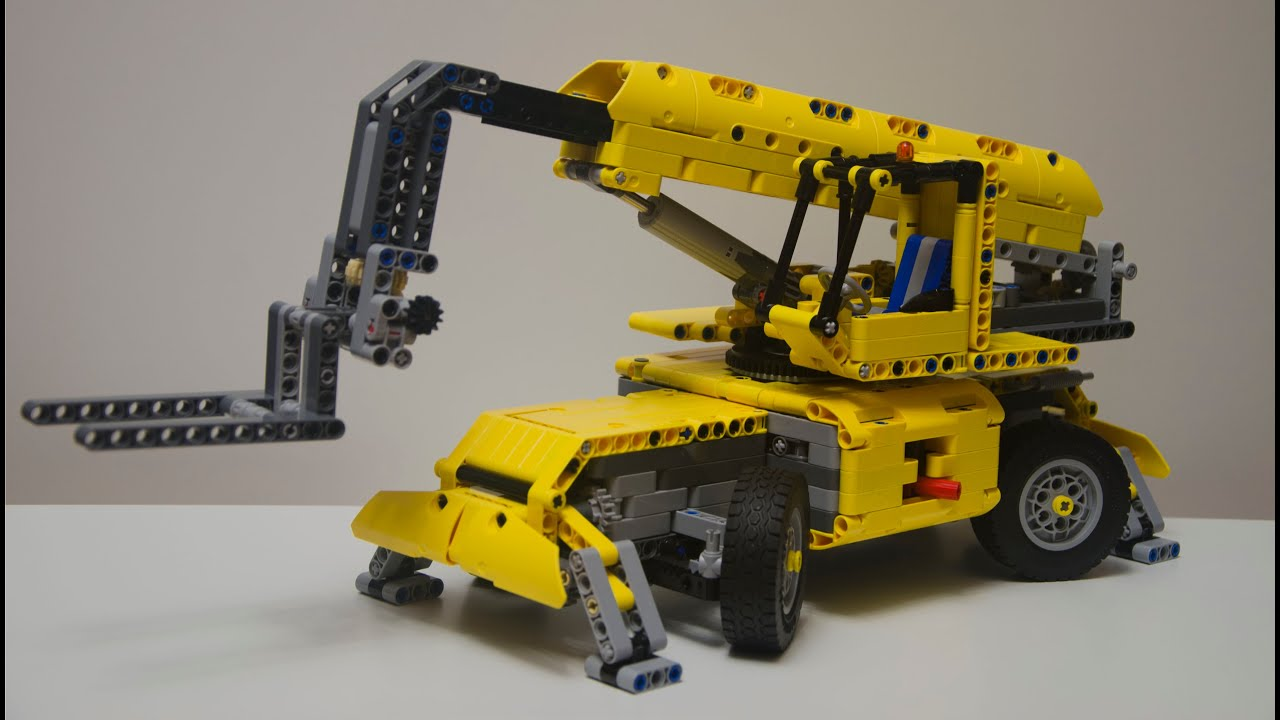 lego technic 42009 c model telehandler youtube. Black Bedroom Furniture Sets. Home Design Ideas