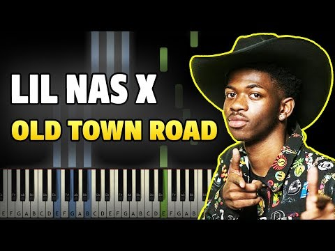 lil-nas-x-old-town-road-feat-billy-ray-cyrus-easy-piano-tutorial-sheet-music-midi-lyrics