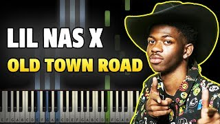 lil-nas-x---old-town-road-feat-billy-ray-cyrus-easy-piano-tutorial-sheet-music-midi
