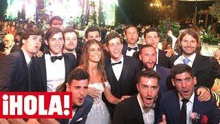 El divertido 'FIESTÓN' de la boda de SERGI ROBERTO y CORAL SIMANOVICH