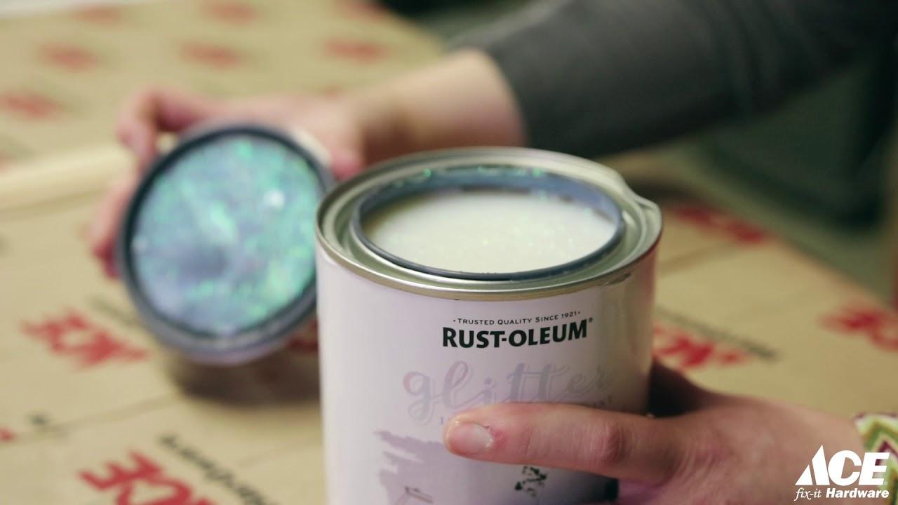 Rust Oleum Glitter Paint Demo Youtube