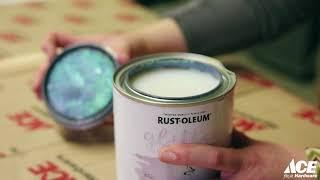 Rust Oleum Glitter Paint Demo