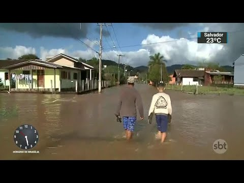 Municípios do Rio Grande do Sul sofrem com inundações | SBT Notícias (05/09/18)