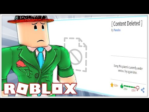 THIS ROBLOX GAME GOT DELETED AGAIN!