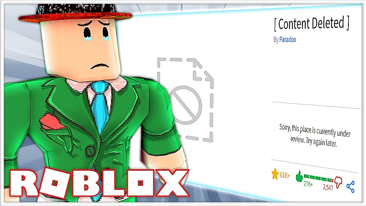 this roblox game got deleted again