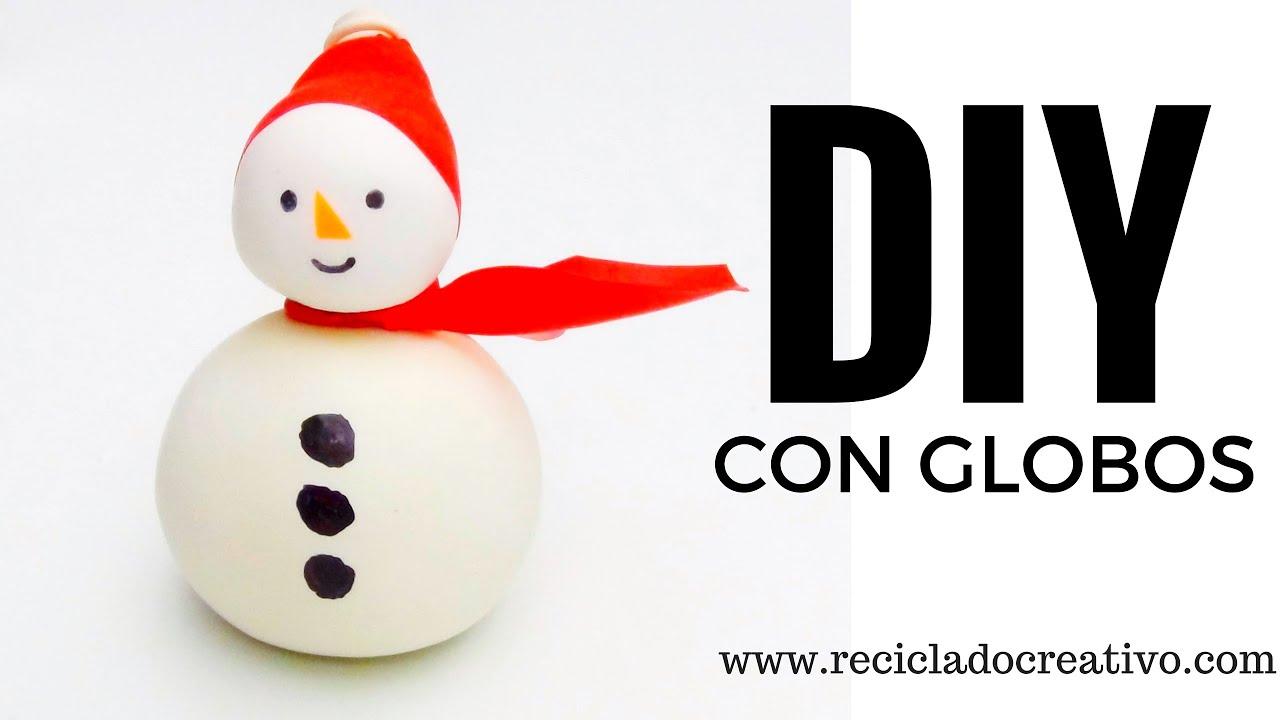 Diy mu eco de nieve snowman con globos y sal - Tarjetas de navidad manuales ...