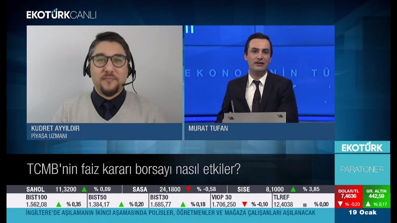 19 Ocak 2021 EkoTürk TV / TCMB, Dolar TL ve Borsa Beklentiler!